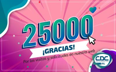 25.000 ¡Gracias!